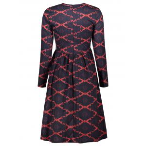 Argyle Fit and Flare Dress -