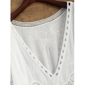 Crochet Panel Beach Cover-Up -