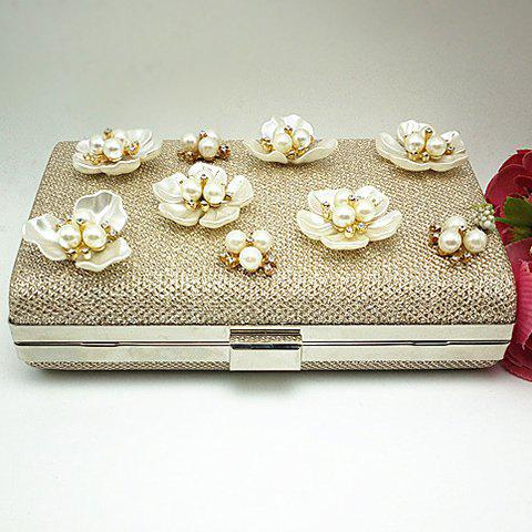 Shop Beaded Clutch Evening Bag - CHAMPAGNE  Mobile