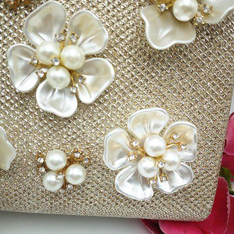Outfit Beaded Clutch Evening Bag - CHAMPAGNE  Mobile