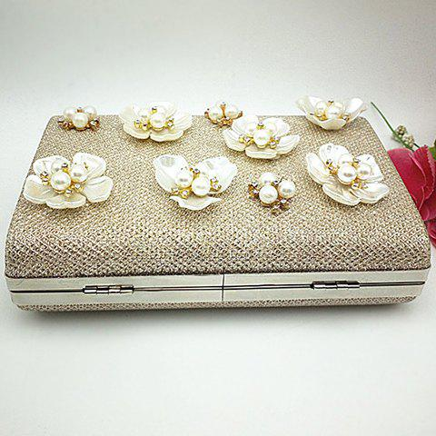 Hot Beaded Clutch Evening Bag - CHAMPAGNE  Mobile