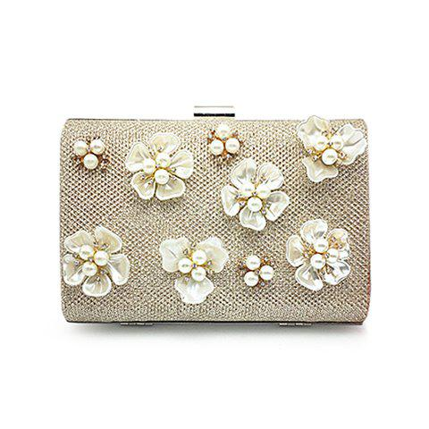 Discount Beaded Clutch Evening Bag CHAMPAGNE