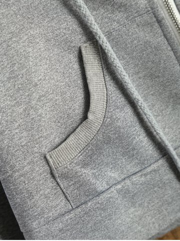 Best Hooded Cropped Sports Jacket - XL GRAY Mobile
