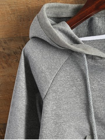Hot Hooded Cropped Sports Jacket - XL GRAY Mobile