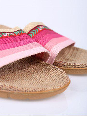Unique Striped Flowers Indoor Slippers - PINK SIZE(39-40) Mobile