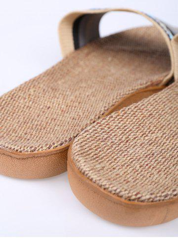 Cheap Striped Ombre House Slippers - SIZE(44-45) GRAY Mobile