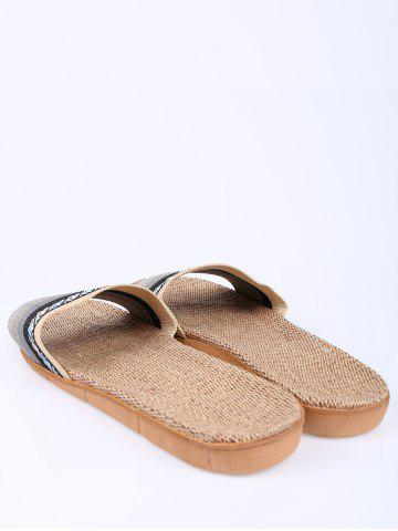 Best Striped Ombre House Slippers - SIZE(42-43) GRAY Mobile