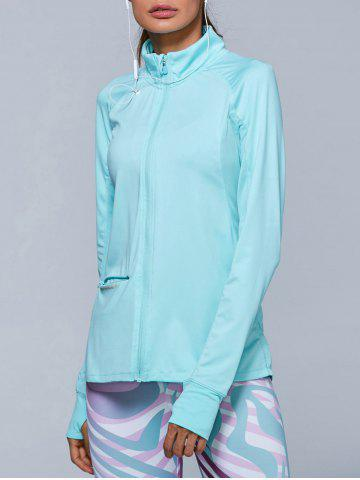 Hot Zip High Neck Running Jacket - L AZURE Mobile