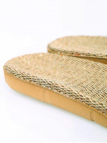 Chic Linen Geometric Pattern House Slippers - YELLOW SIZE(39-40) Mobile