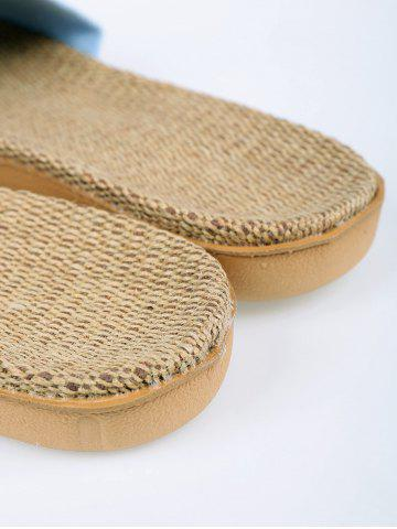 Outfits Linen Geometric Pattern House Slippers - LIGHT PURPLE SIZE(39-40) Mobile