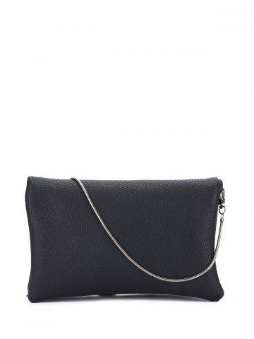 Shops Snake Chain Fuax Leather Crossbody Bag BLACK