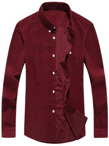 Chest Pocket Corduroy Chemise