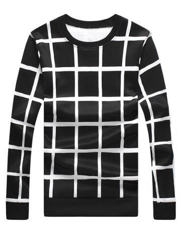 Windowpane Check Sweat ras du cou