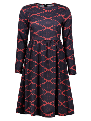 Shops Argyle Fit and Flare Dress RED M