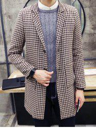 Houndstooth Patch Pocket Notch Lapel Coat