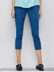High Waisted Colored Cropped Pants
