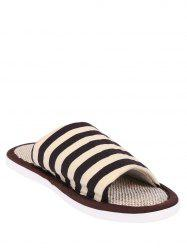 Stripes Color Block House Slippers