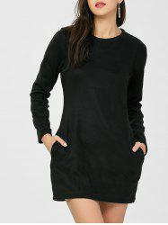 Round Neck Mini Long Sleeve Dress