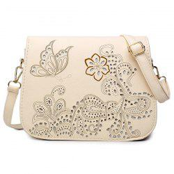 Floral Hollow Out Crossbody Bag