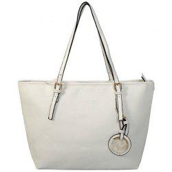 Faux Leather Tote Bag -