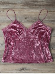 Cami Velvet Sweatheart Top