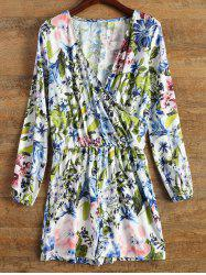 Wrap Floral Long Sleeve Romper