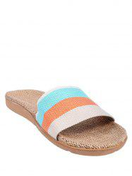 Espadrilles Stripes Maison Chaussons - Orange