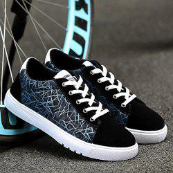 Color Block Suede Casual Shoes