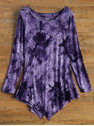 Tie-Dyed Asymmetric T-Shirt