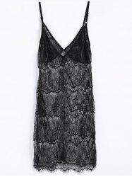 Sheer Lace Slip Dress Babydoll Lingeries