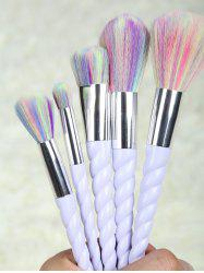 5 Pcs Unicorn Makeup Brushes Set