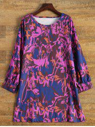 Long Sleeved Printed Tunic Dress