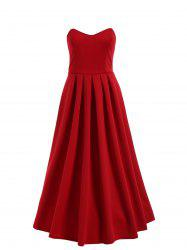 Strapless Midi High Low Formal Sweetheart Dress