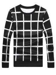 Windowpane Check Sweat ras du cou -