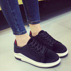 Platform Velour Sneakers - BLACK