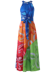 Sleeveless Colorful Maxi Dress