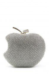 Rhinestone Fruit Shaped Evening Bag - SILVER