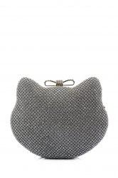 Rhinestone Cat Face Shape Evening Bag