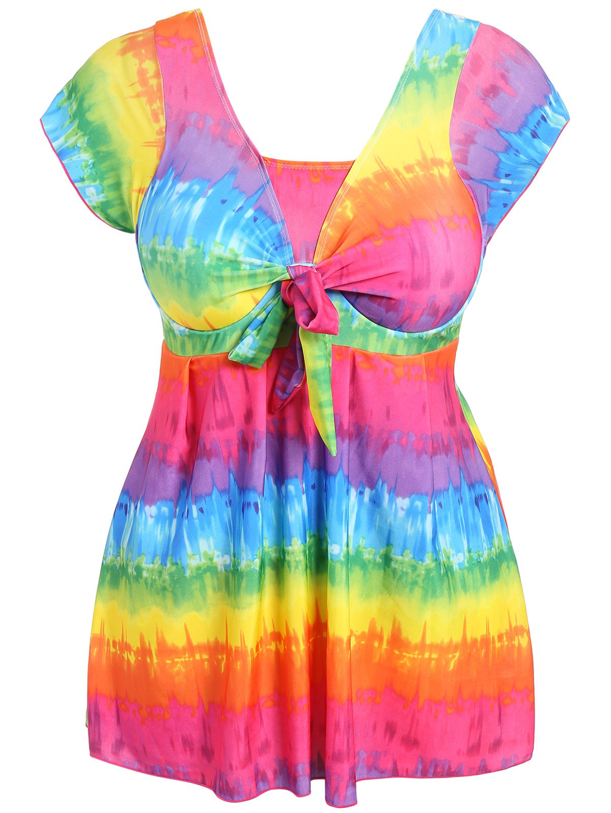 Multicolor Plus Size Tie Dye One Piece Swimwear Rosegal Com