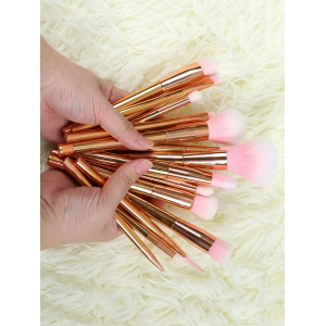 15 Pcs Fiber Makeup Brushes Set