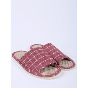 Plaid Color Block Maison Chaussons - Clairet Taille(37-38)