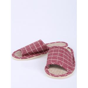 Plaid Color Block Maison Chaussons - Clairet Taille(39-40)