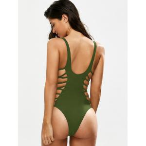 Lacing Up One Piece Swimsuit -