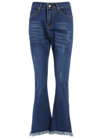 Outfit High Waisted Fringed Bell-Bottom Jeans