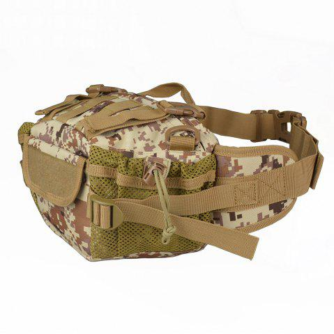 1000D Outdoor Waterproof Multifunctional Tactical Waist Bag - Marpat Desert