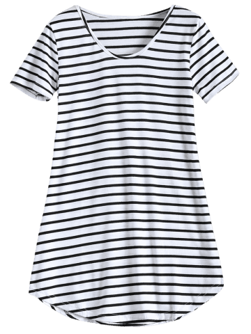 Hot Tunic Striped T-Shirt - XL STRIPE Mobile