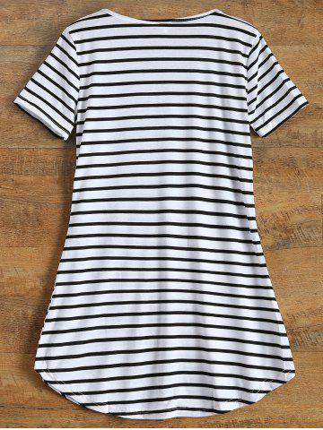 Shops Tunic Striped T-Shirt - XL STRIPE Mobile