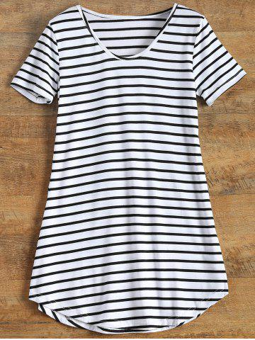 Fashion Tunic Striped T-Shirt - XL STRIPE Mobile