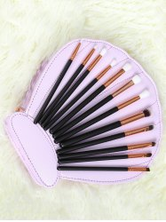12 Pcs Eye Makeup Brushes Set - BLACK