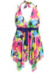 Plus Size Floral Swimwear